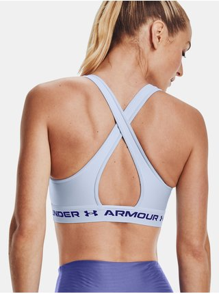 Podprsenka Under Armour UA Crossback Mid Bra - modrá