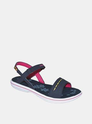 Tmavě modré dámské květované sandály LOAP