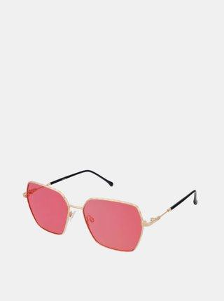 Dámské sluneční brýle ve zlaté barvě Crullé