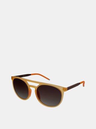 Oranžové dámske slnečné okuliare Crullé