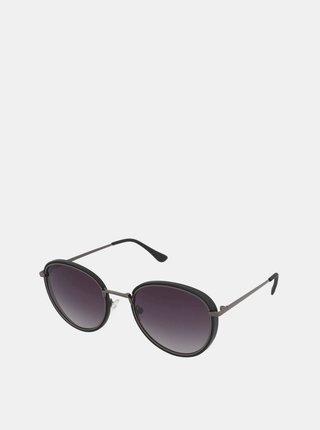 Čierne dámske slnečné okuliare Crullé