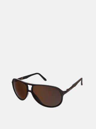 Hnědé pánské sluneční brýle Crullé