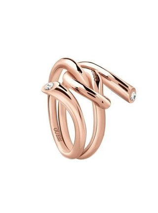 Guess rose gold prsten Knot