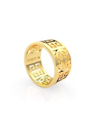 Guess zlatý prsten Peony Art