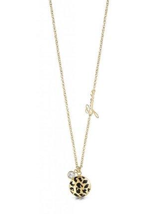 Guess zlatý náhrdelník Curve X