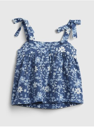 Modrý holčičí dětský top floral