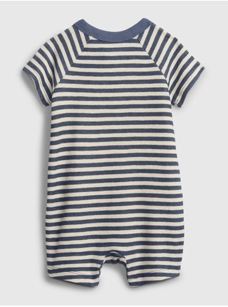 Modrý klučičí baby overal stripe shorty one-piece