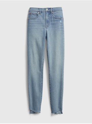 Modré dámské džíny high rise true skinny with secret smoothing pockets