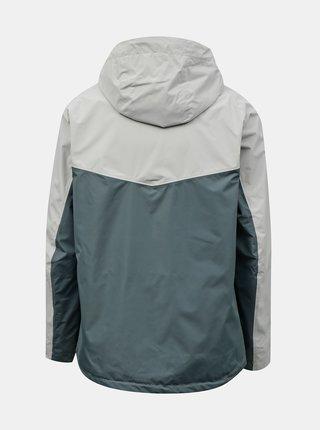 Zeleno-šedá pánská lehká bunda Hannah