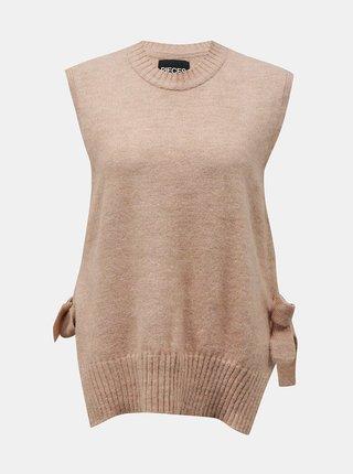 Starorůžová svetrová vesta Pieces Alice