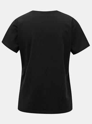 Černé tričko s potiskem Noisy May