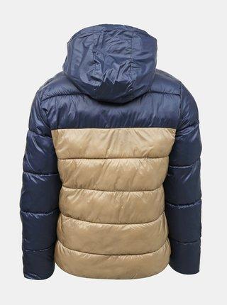 Modrá zimná prešívaná bunda Jack & Jones