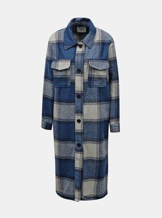 Modrá kockovaná dlhá košeľa Jacqueline de Yong Umala