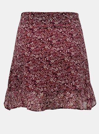 Vínová květovaná sukně TALLY WEiJL