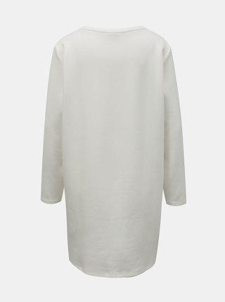 Bílé mikinové šaty Jacqueline de Yong Bella