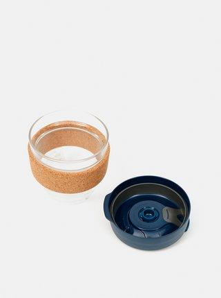 Tmavomodrý sklenený cestovný hrnček KeepCup Brew small 227 ml