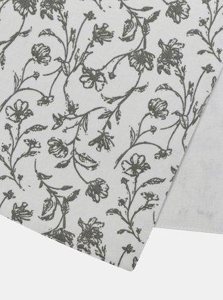 Bílý květovaný běhoun Dakls
