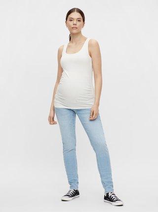 Světle modré těhotenské slim fit džíny Mama.licious Resort