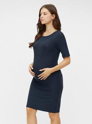 Tmavě modré těhotenské pouzdrové šaty Mama.licious Sanny