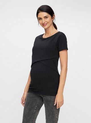 Černé těhotenské/kojicí tričko Mama.licious Sia
