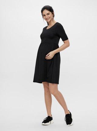 Čierne tehotenské šaty Mama.licious Elnora
