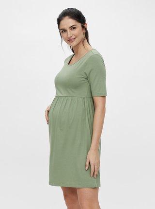 Zelené tehotenské šaty Mama.licious Elnora