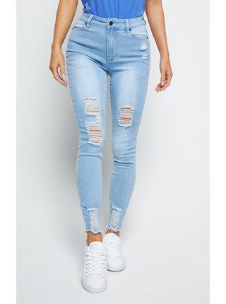 Modré dámské džíny - JEANS SKINNY DISTRESSED