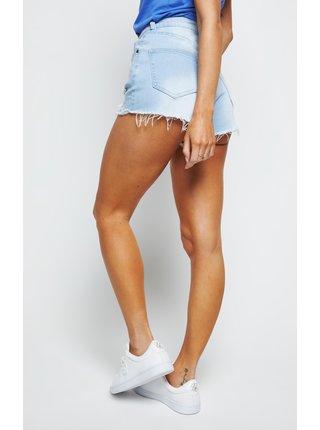 Modré dámské džínové kraťasy - SHORTS SKINNY DISTRESSED
