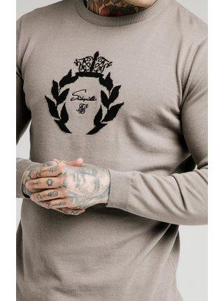 Béžový pánský svetr -  SWEATER PRESTIGE KNITTED NECK HIGH