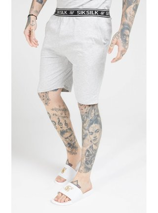 Šedé pánské kraťasy Marl Grey - Shorts Jersey Fit Loose SikSilk