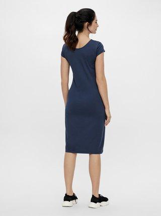 Modré tehotenské púzdrové šaty Mama.licious Elnora