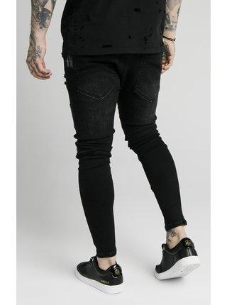 Černé pánské džíny - DENIMS PATCH FUSION DISTRESSED RISE LOW