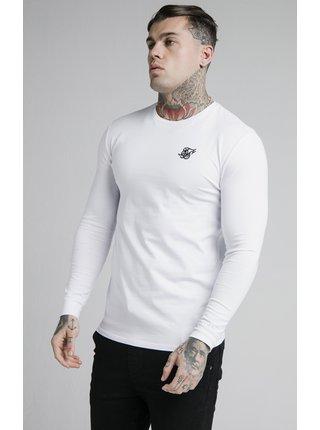 Bílé pánské triko -TEE GYM HEM STRAIGHT L/S