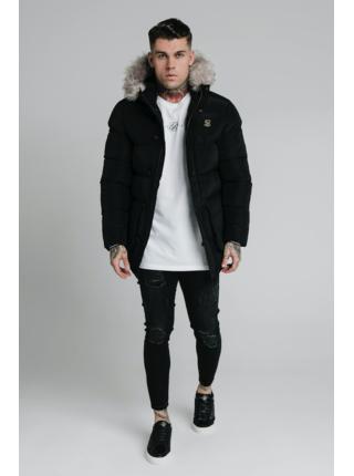 Černá pánská zimní bunda - PARKA PUFF STOP RIP