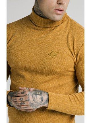 Oranžový pánský svetr - NECK TURTLE RIB