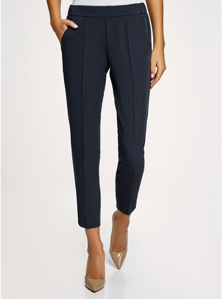 Kalhoty zúžené s elastickým pasem OODJI