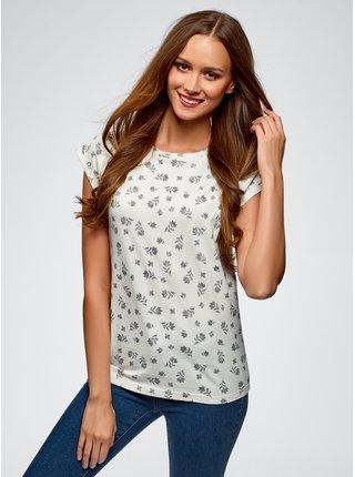 Tričko bavlněné se vzorem OODJI