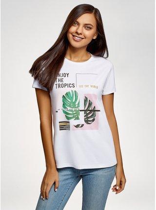 Tričko bavlnené s potlačou OODJI