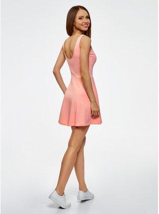 Šaty na ramínkách se zvonovou sukní OODJI