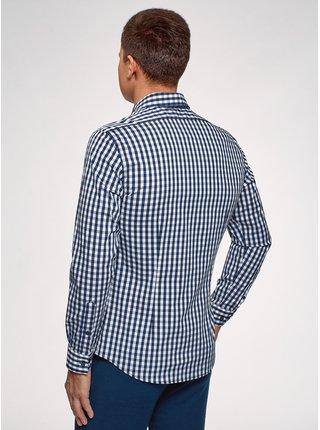Košile kostkovaná s dlouhým rukávem OODJI