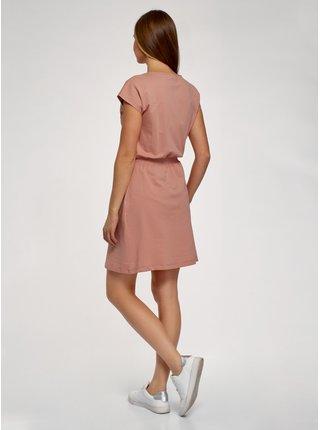 Šaty s gumou v pase OODJI