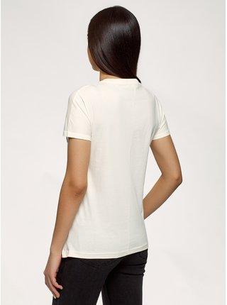Tričko bavlnené s výšivkou OODJI
