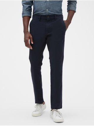 Modré pánské kalhoty essential khakis in skinny fit with GapFlex