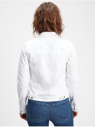 Bílá dámská džínová bunda icon denim jacket with Washwell