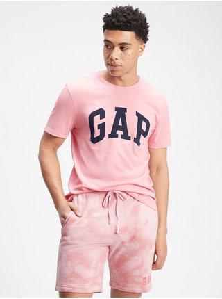 Růžové pánské tričko GAP Logo t-shirt