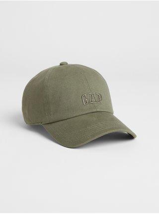 Zelená pánská kšiltovka GAP Logo twill baseball hat