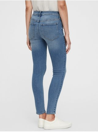 Modré dámské džíny mid rise universal legging jeans