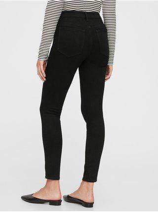 Černé dámské džíny mid rise universal legging jeans