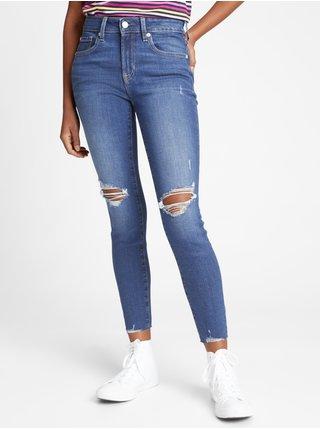 Modré dámské džíny mid rise universal legging jeans with Washwell