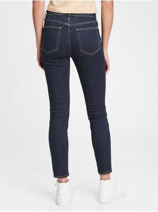 Modré dámské džíny mid rise true skinny jeans with Washwell